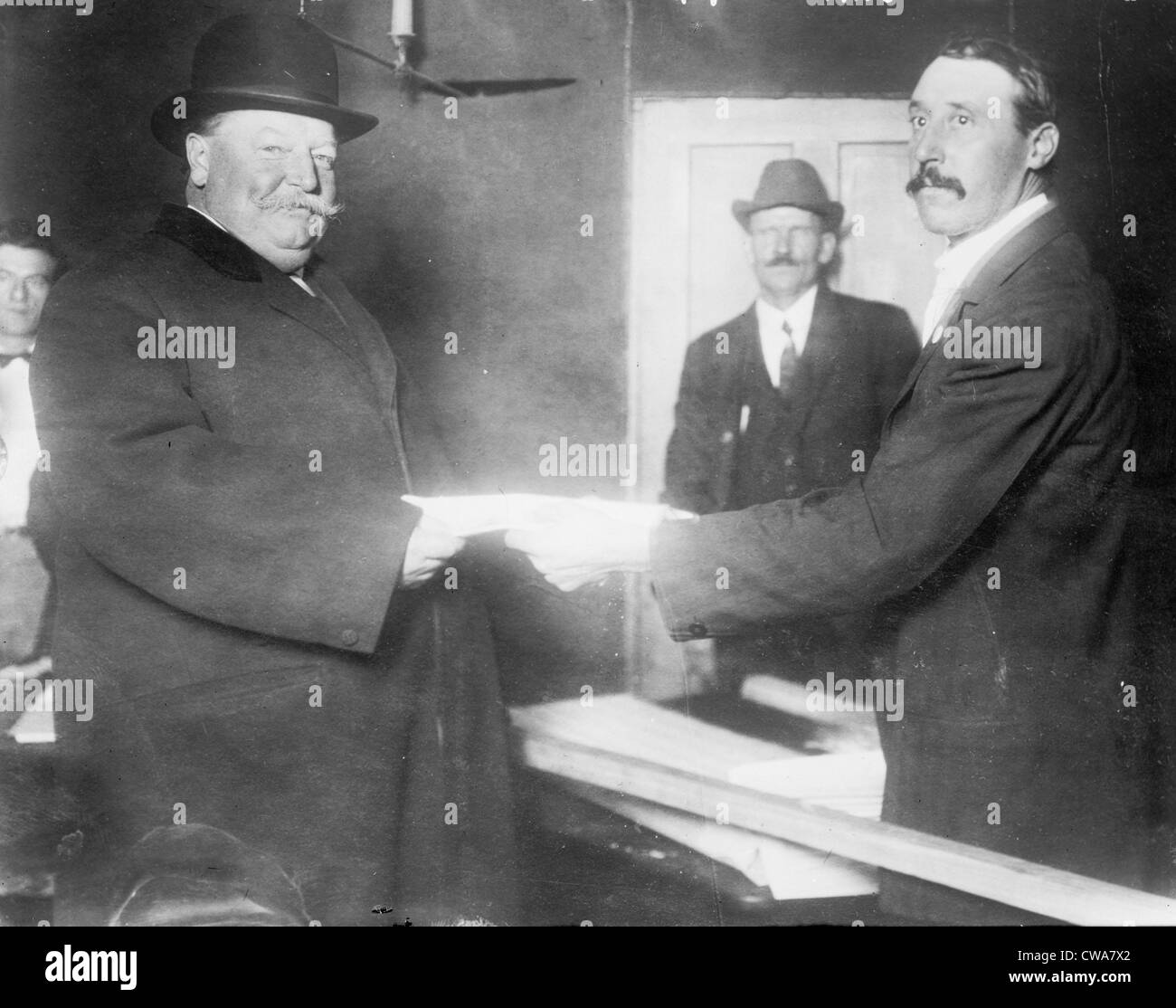President William Taft (1857-1930) voting in 1912, when the divided Republican lost the Presidency to Democratic Stock Photo
