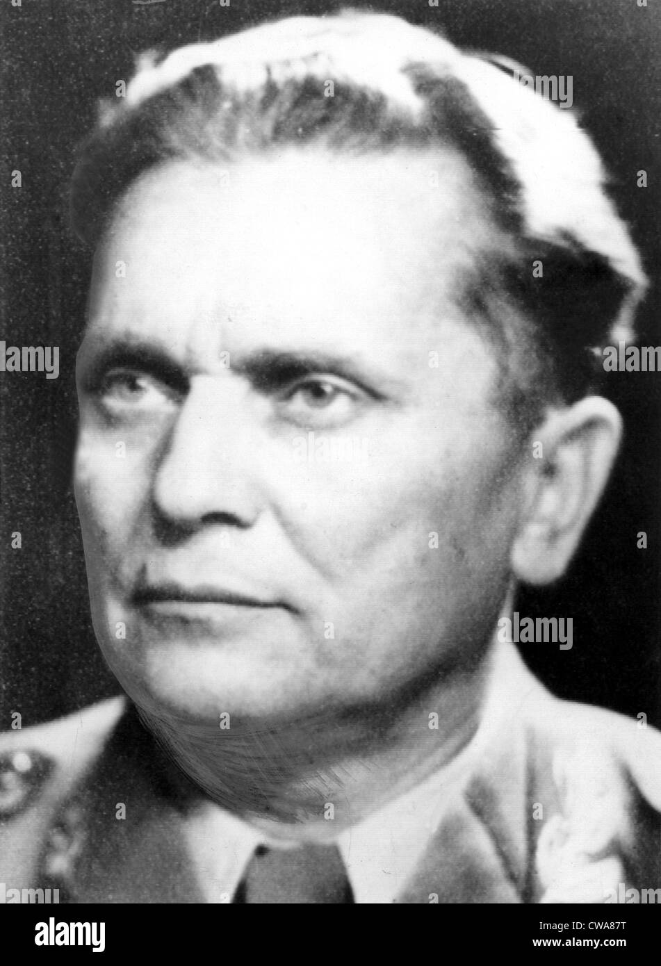 MARSHAL JOSIP BROZ TITO of Yugoslavia in the early   1950's.. Courtesy: CSU Archives / Everett Collection - Stock Image