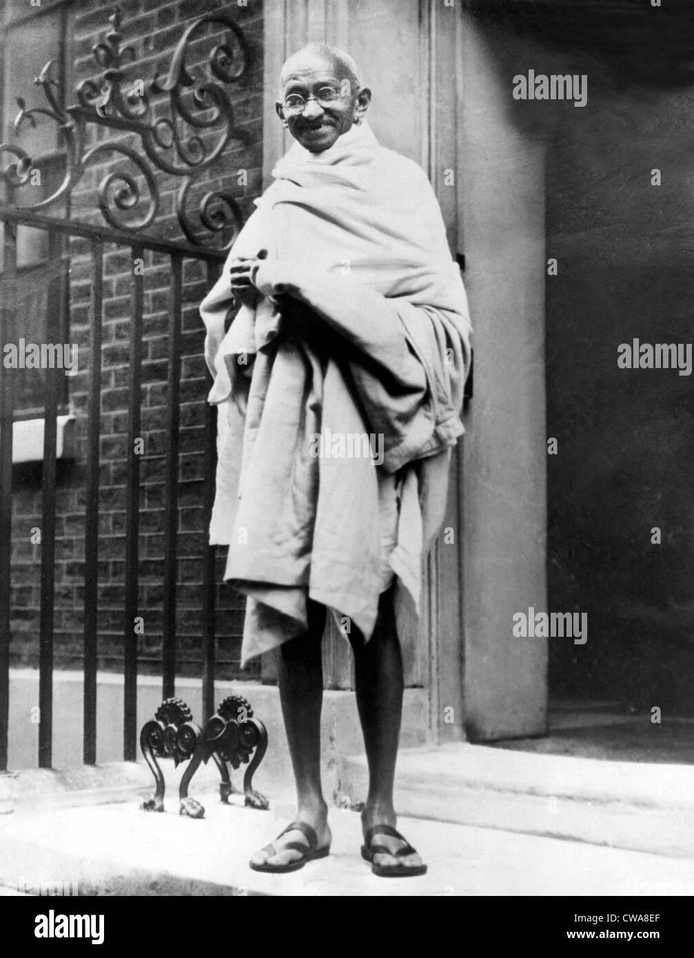 Mahatma Gandhi in1931.. Courtesy: CSU Archives / Everett Collection - Stock Image