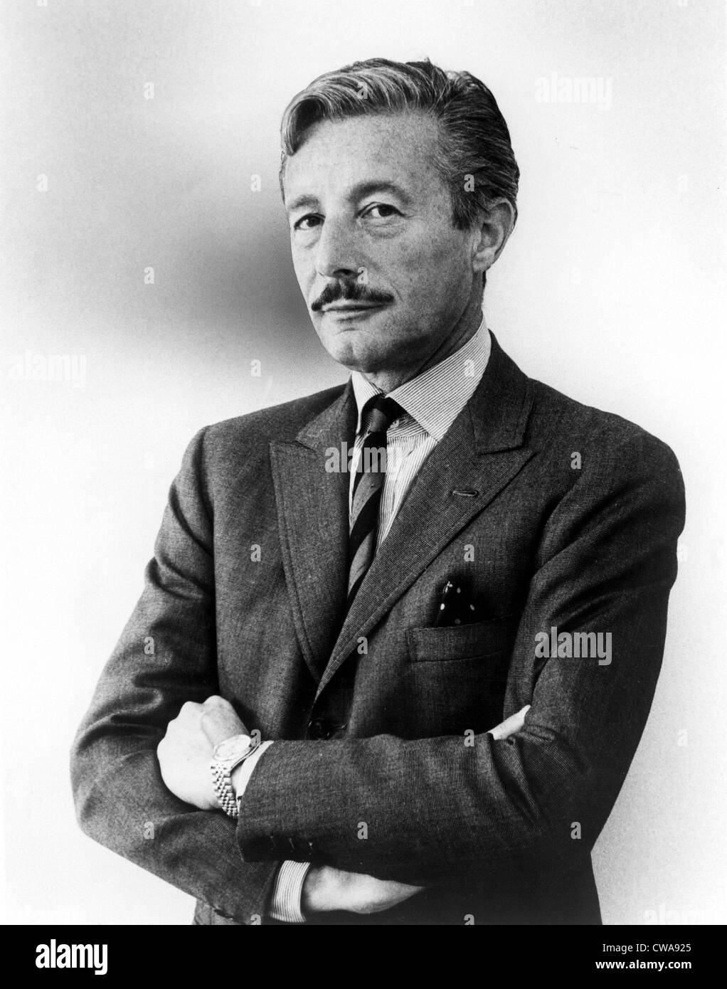 Oleg Cassini in a 1960s portrait. Courtesy: CSU Archives / Everett Collection - Stock Image