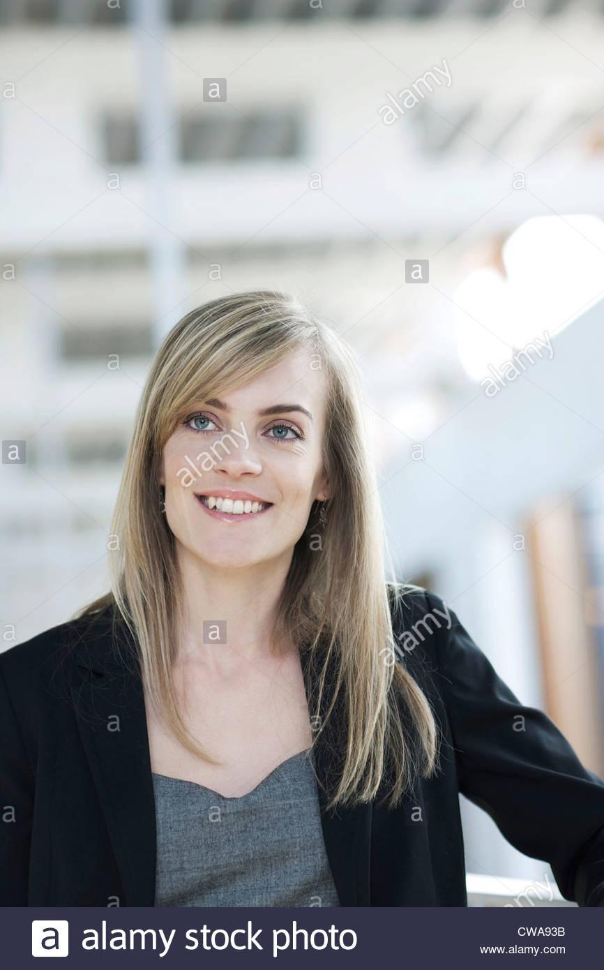 Blonde haired businessman, portrait - Stock Image