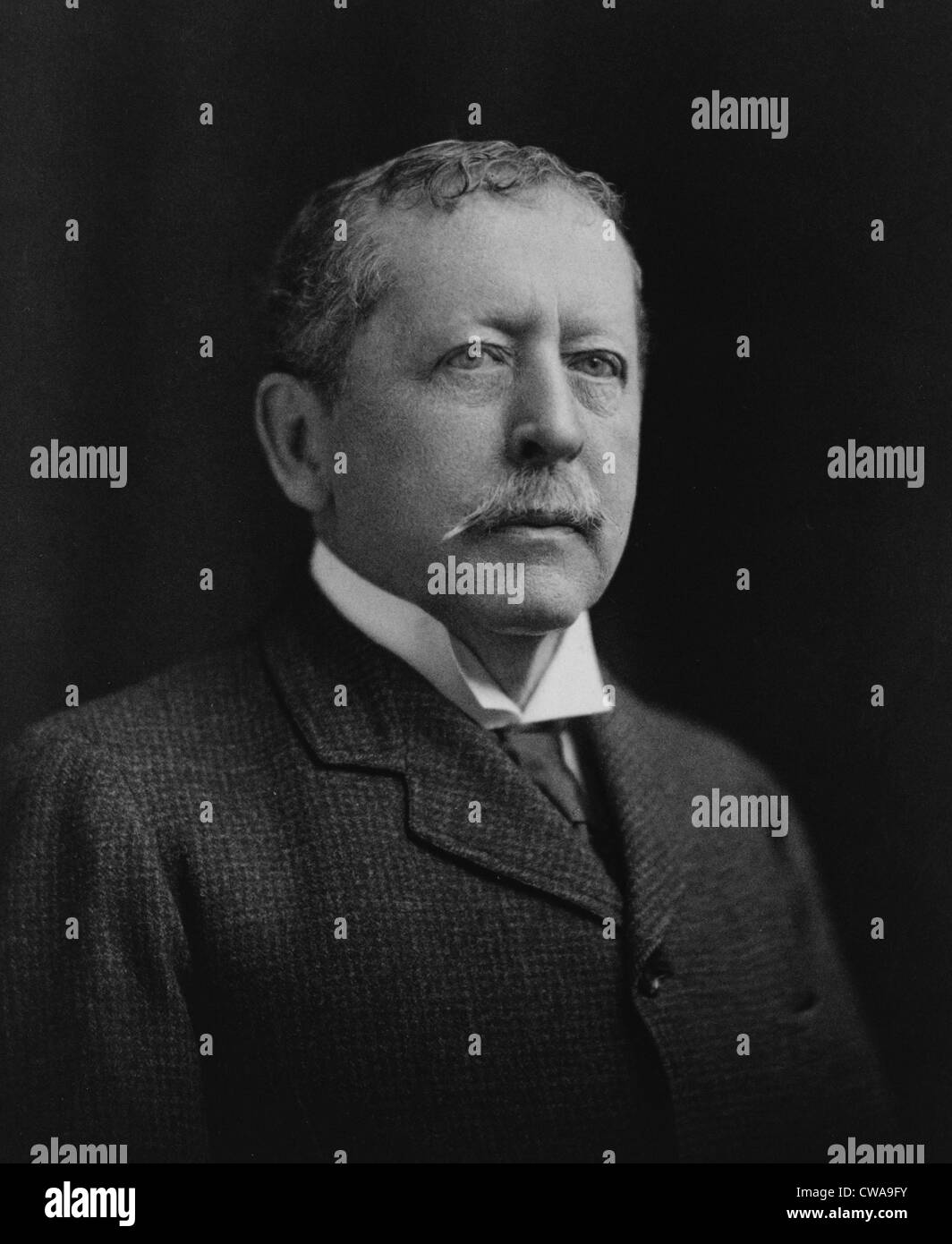 Thomas Bailey Aldrich (1836-1907), poet and short story author in an 1896 portrait. - Stock Image
