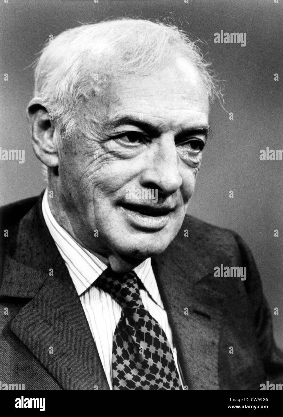 Saul Bellow.  Undated Photograph.. Courtesy: CSU Archives / Everett Collection - Stock Image