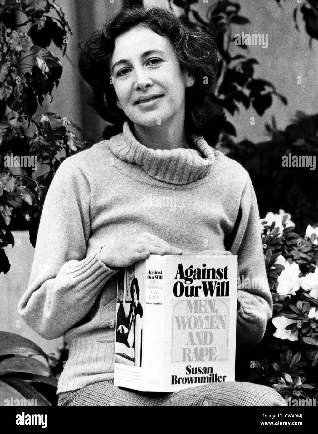 Feminist author Susan Brownmiller, 1975. Courtesy: CSU Archives/Everett Collection - Stock Image