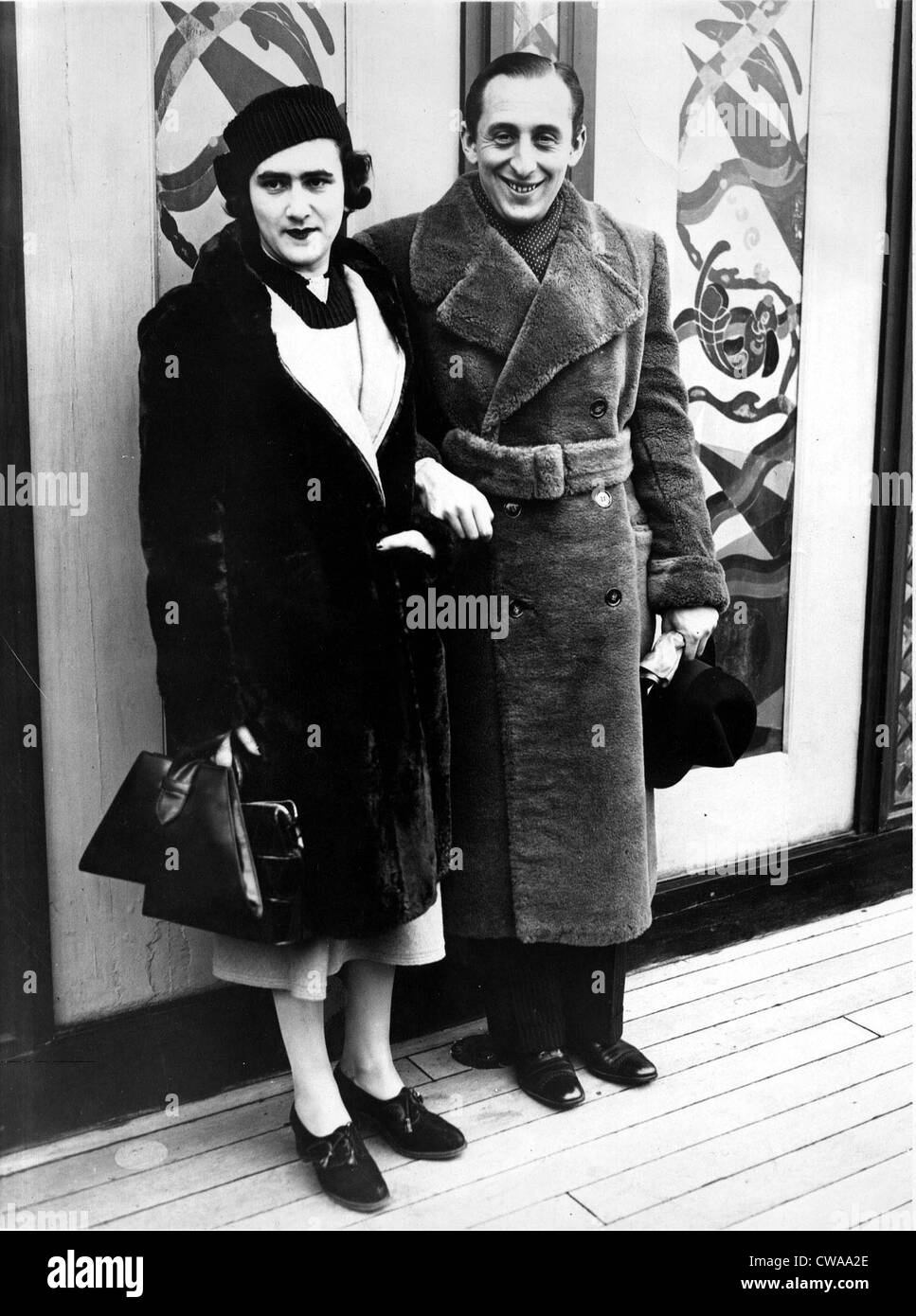 VLADIMIR & WANDA HOROWITZ-Arrival in New York on the S.S Rex. 1934. Courtesy: CSU Archives / Everett Collection - Stock Image