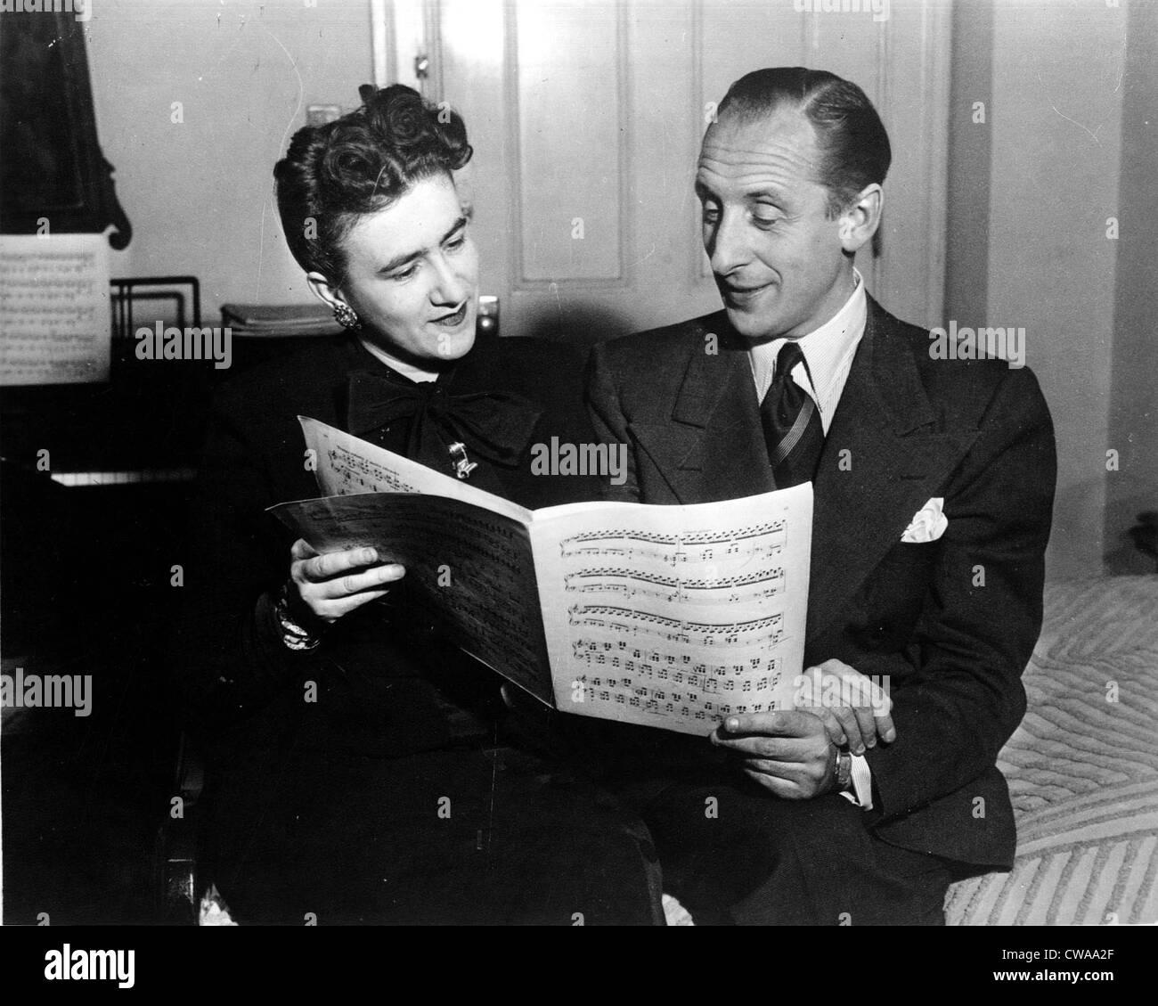 VLADIMIR & WANDA HOROWITZ- c.1946. Courtesy: CSU Archives / Everett Collection - Stock Image
