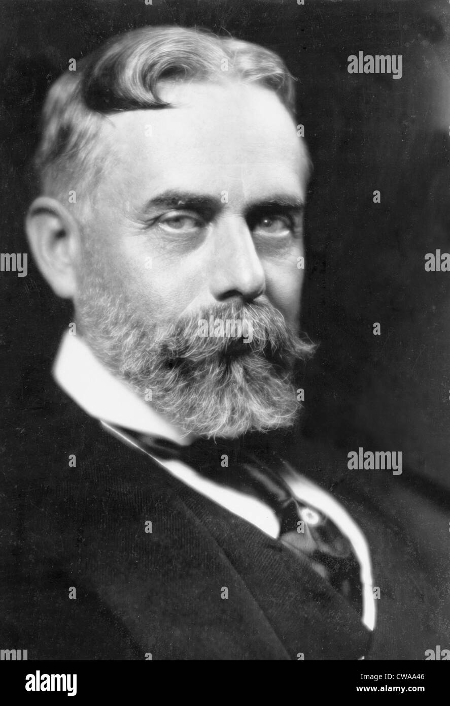 Sir Gilbert Parker (1862-1932) Canadian novelist and politician who wrote about the history and life of the French - Stock Image