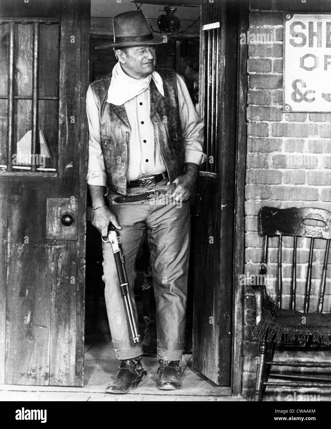 RIO LOBO, John Wayne, 1970.. Courtesy: CSU Archives / Everett Collection - Stock Image