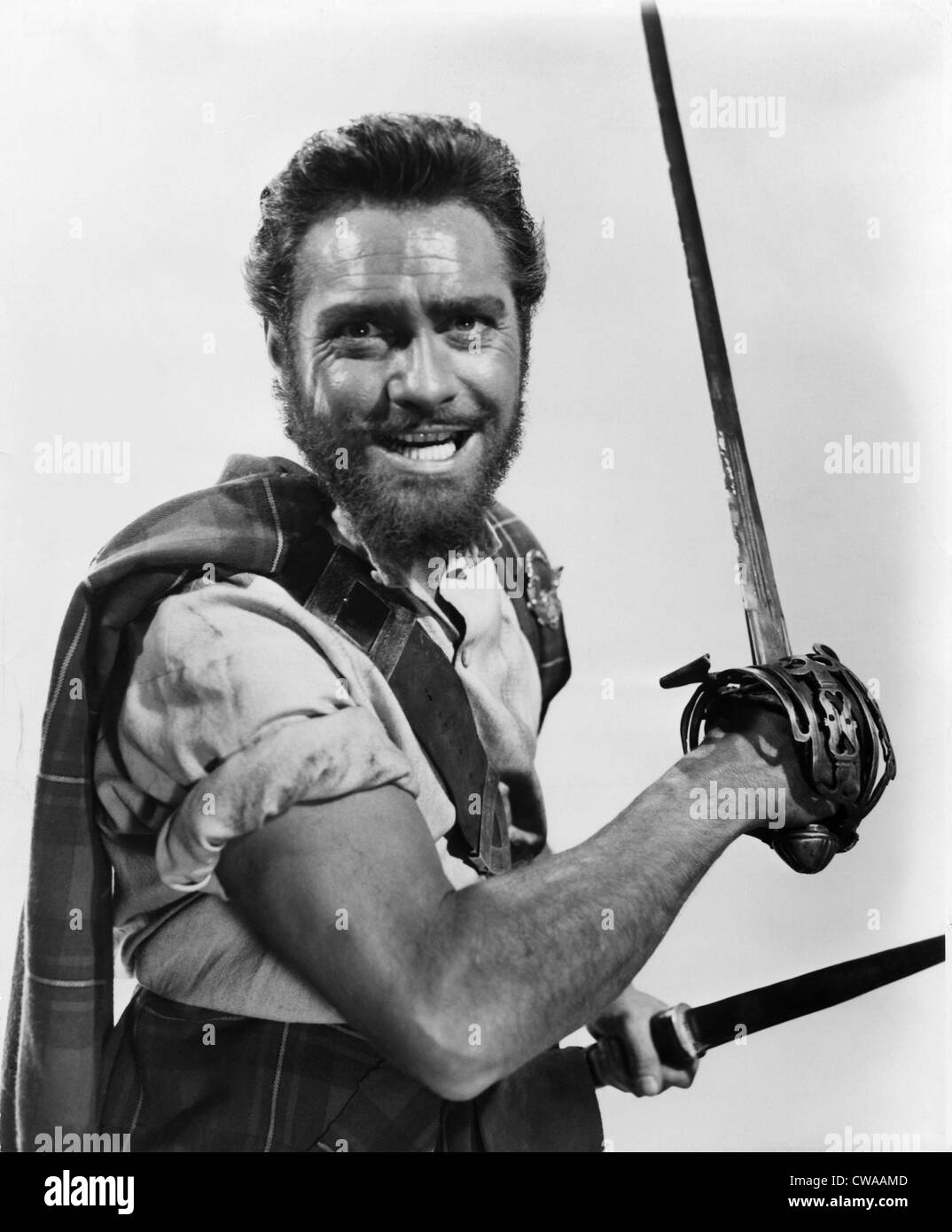 ROB ROY, THE HIGHLAND ROGUE, Richard Todd, 1954.. Courtesy: CSU Archives / Everett Collection - Stock Image