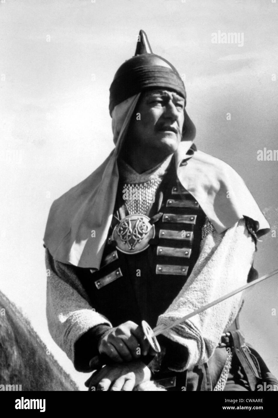 CONQUEROR, John Wayne, 1956. Courtesy: CSU Archives / Everett Collection - Stock Image