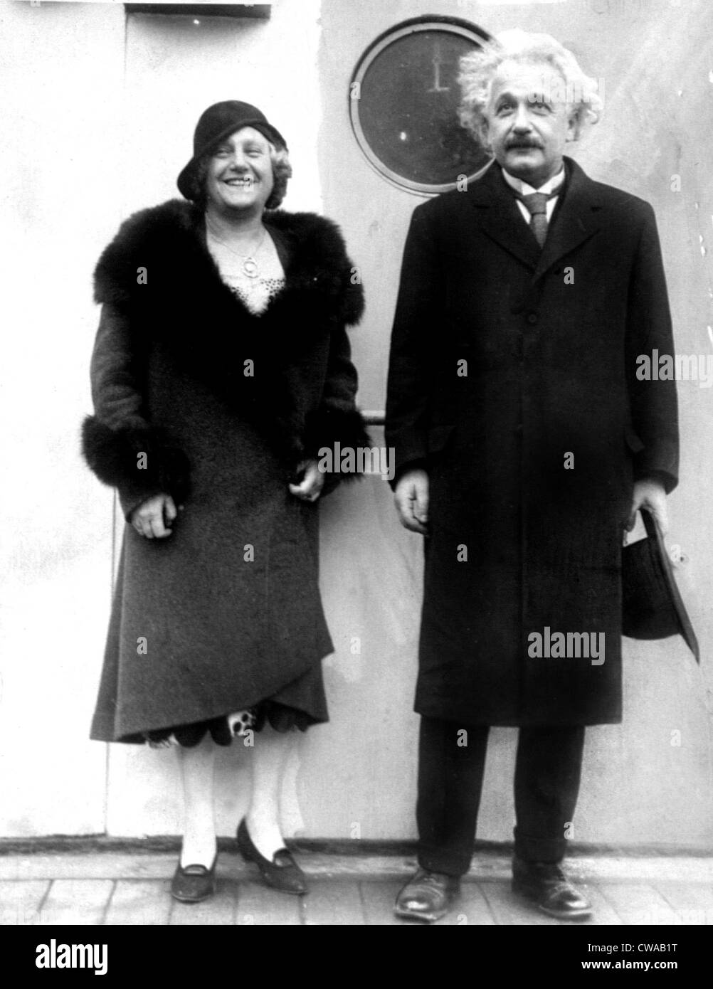 ELSE EINSTEIN and husband ALBERT EINSTEIN aboard the S.S. Bolgenland sailing from Antwerp to the U.S., December, - Stock Image