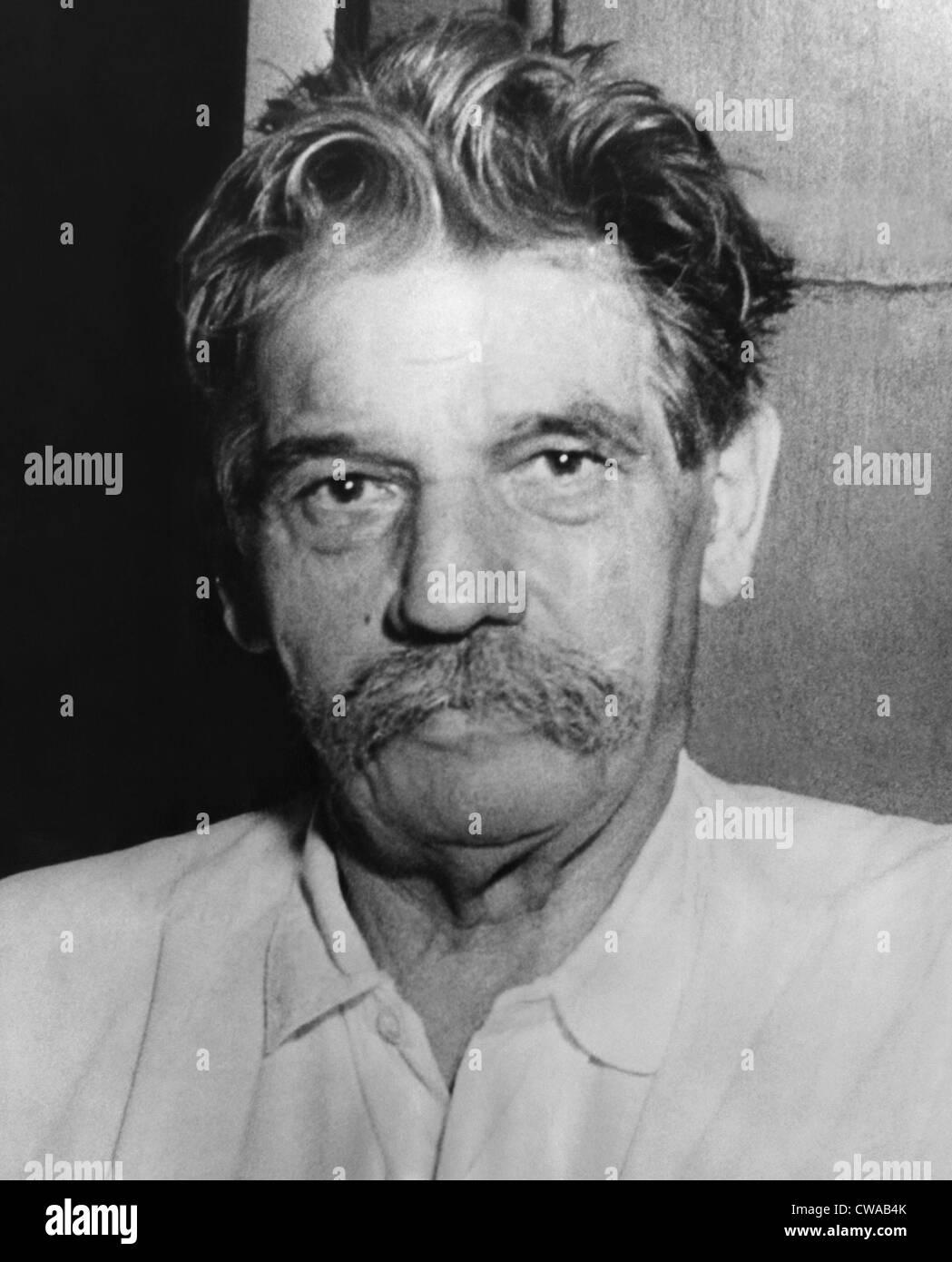 Doctor Albert Schweitzer (1875-1965), Nobel Prize winning physician, philosopher, and musician,  1949.. Courtesy: - Stock Image