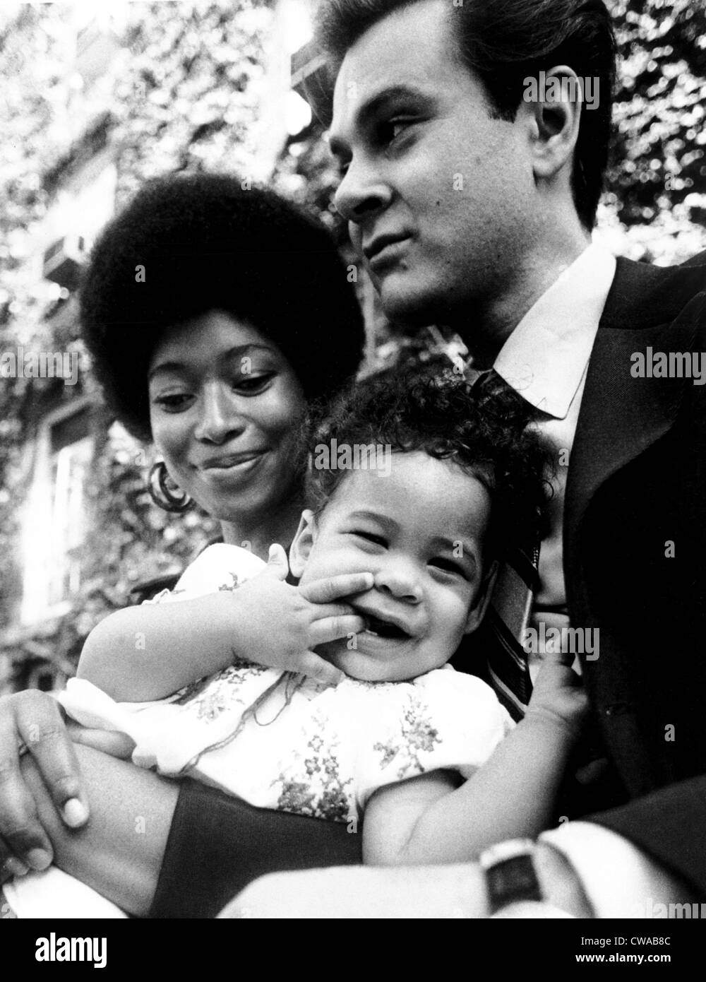 Alice Walker with her daughter, Rebecca, and husband, Mel Leventhal, 1970. Courtesy: CSU Archives / Everett Collection - Stock Image