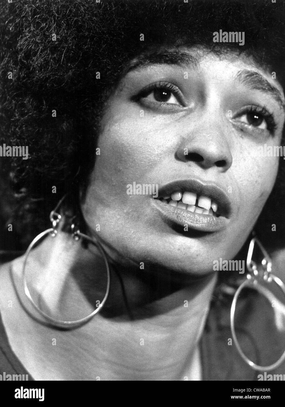 Angela Davis circa 1972.. Courtesy: CSU Archives / Everett Collection - Stock Image