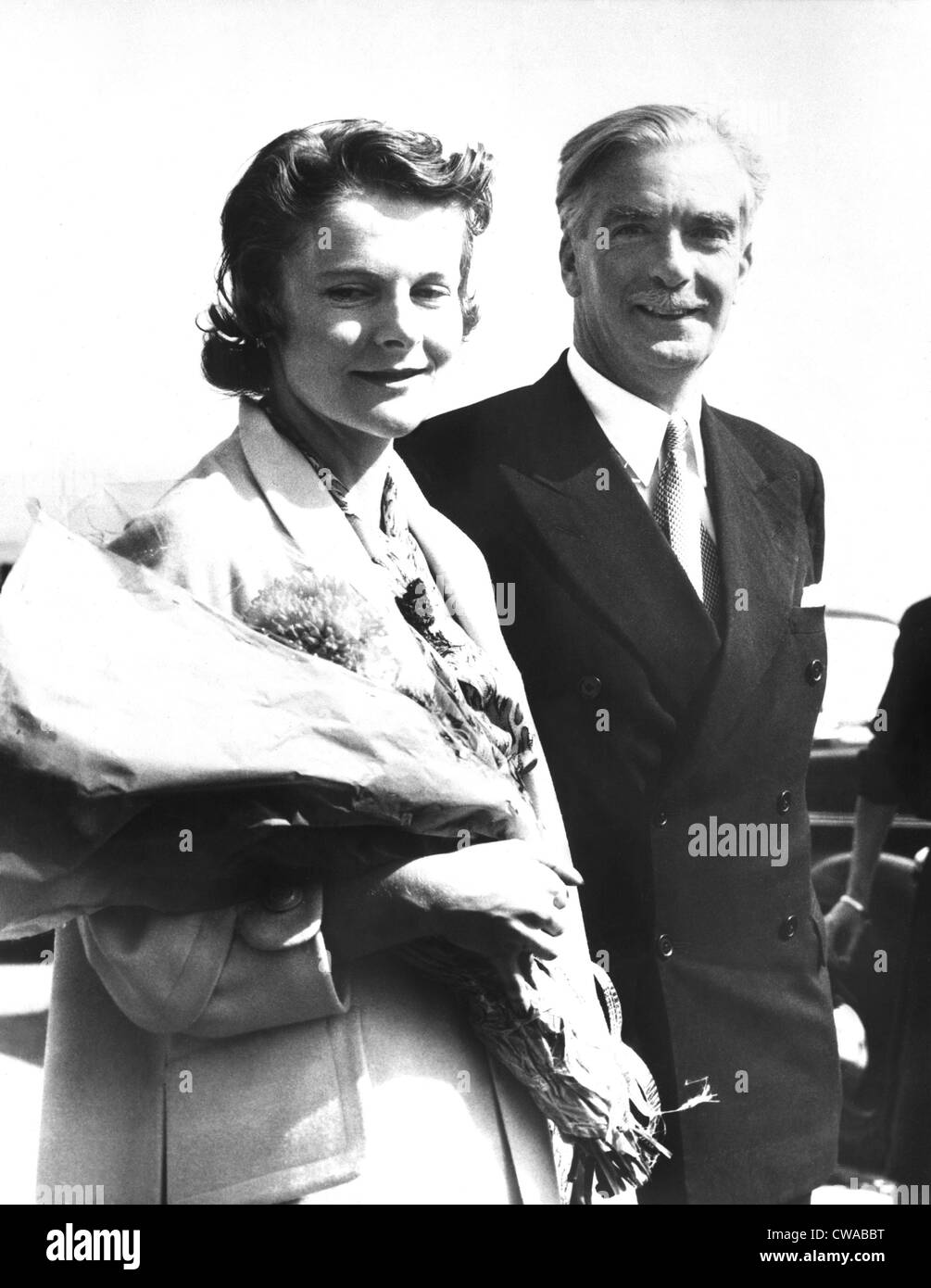 British Prime Minister Anthony Eden with wife, Clarissa, ca. 1955. Courtesy: CSU Archives / Everett Collection - Stock Image
