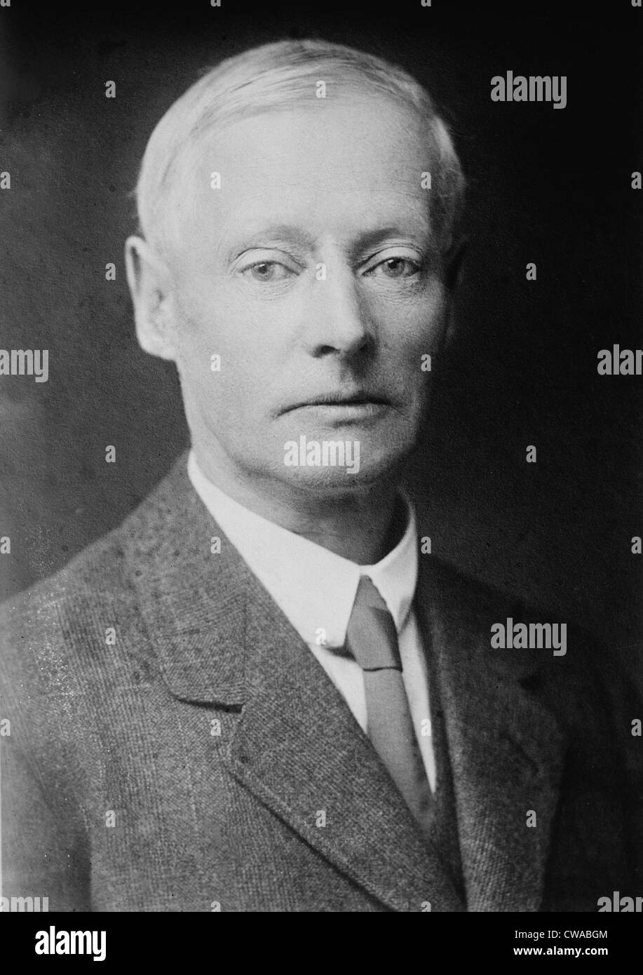 """W.W. Jacobs (1863-1943) English author of horror stories, best known for """"The Monkey's Paw"""" 1902. 1920 portrait. - Stock Image"""