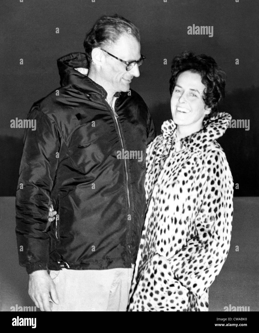 Arthur Miller and his new wife photographer Inge Morath, 1960s. Courtesy: CSU Archives / Everett Collection - Stock Image