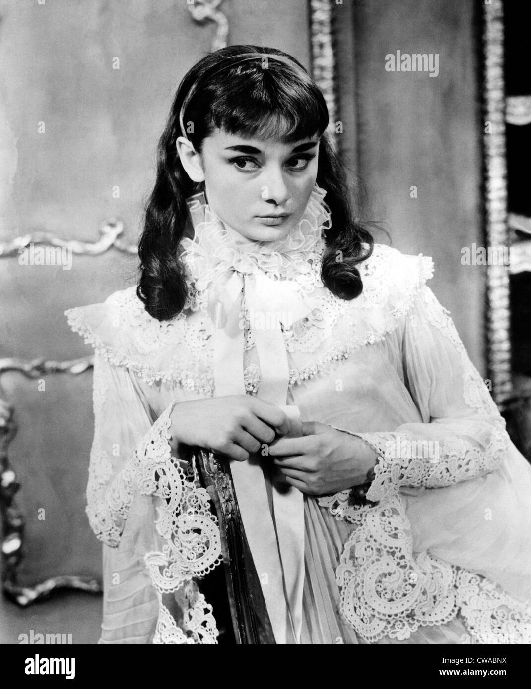 Audrey Hepburn in the Broadway play 'GIGI'. 1951. Courtesy CSU Archives/Everett Collection. - Stock Image