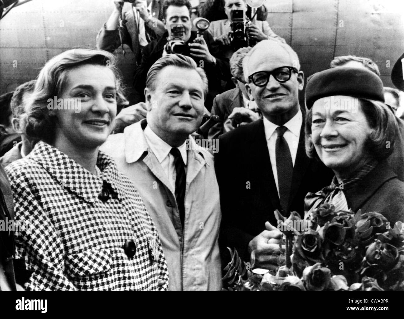 Barry Goldwater (2nd from right), Mrs. Nelson Rockefeller, Gov. Nelson Rockefeller, Goldwater, Mrs. Barry Goldwater, - Stock Image