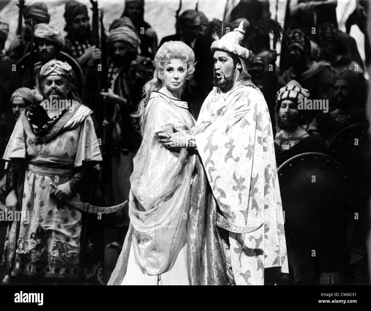 Beverly Sills, Justino Diaz performing Rossini's THE SIEGE OF CORINTH, Metropolitan Opera, New York, NY, 1975. - Stock Image