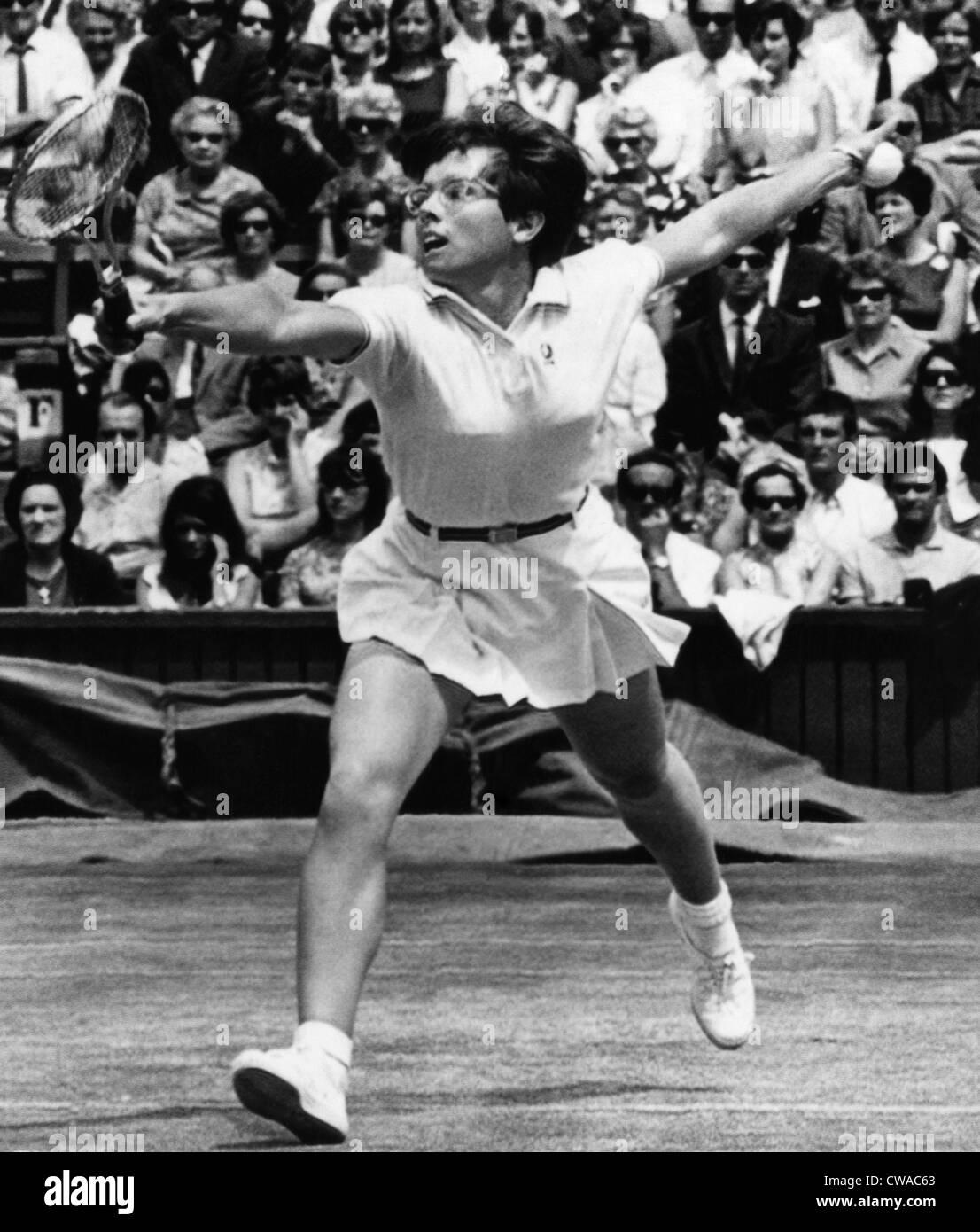 Billie Jean King, Wimbledon, England, July 6, 1968.. Courtesy: CSU Archives / Everett Collection - Stock Image