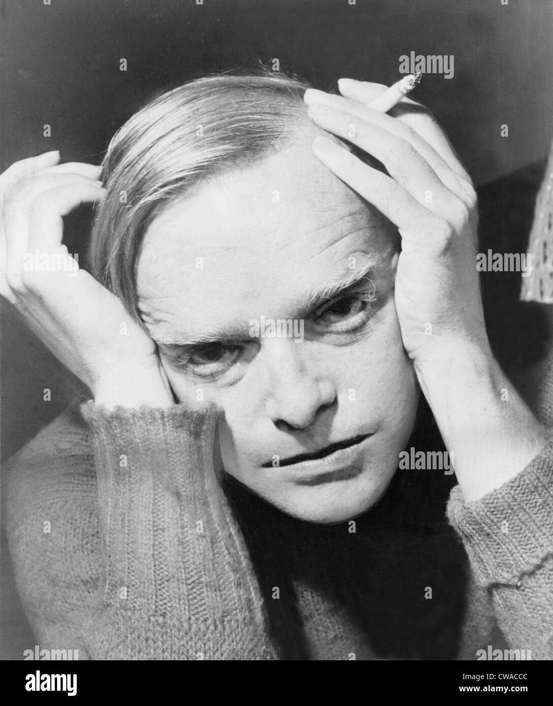 Truman Capote (1924-1984), southern American novelist and playwright, author of 'Breakfast at Tiffany's,' - Stock Image