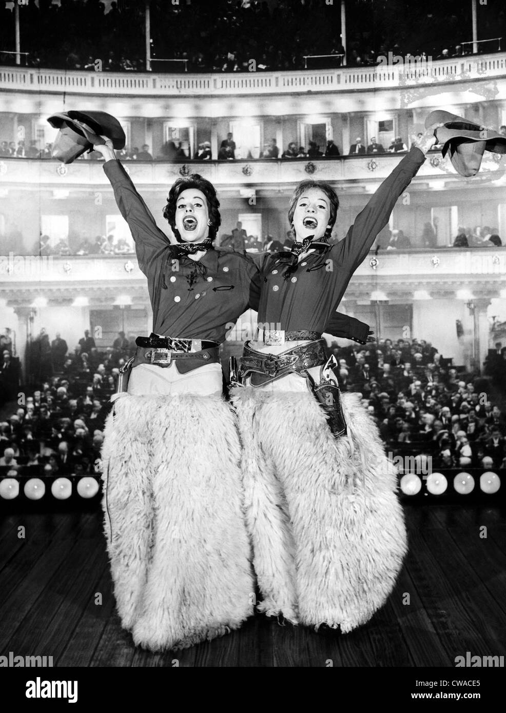 Carol Burnett and Julie Andrews in a television special at Carnegie Hall, 1963. Courtesy: CSU Archives/Everett Collection - Stock Image