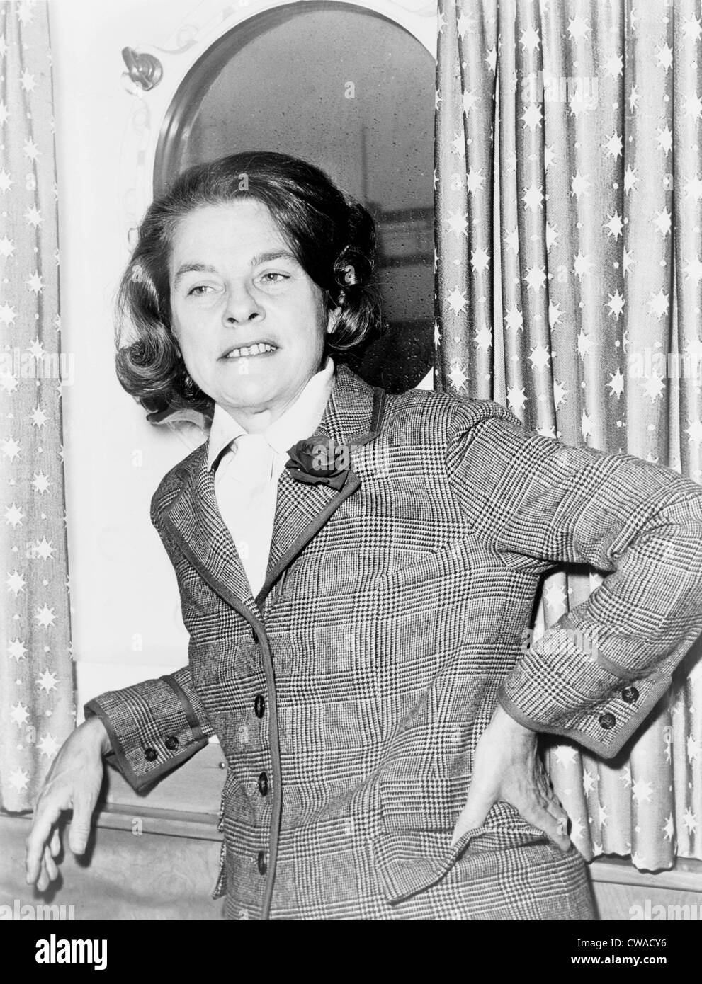 Mary McCarthy, 1912-1989, American author best known for her autobiography 'Memories of a Catholic Girlhood' - Stock Image