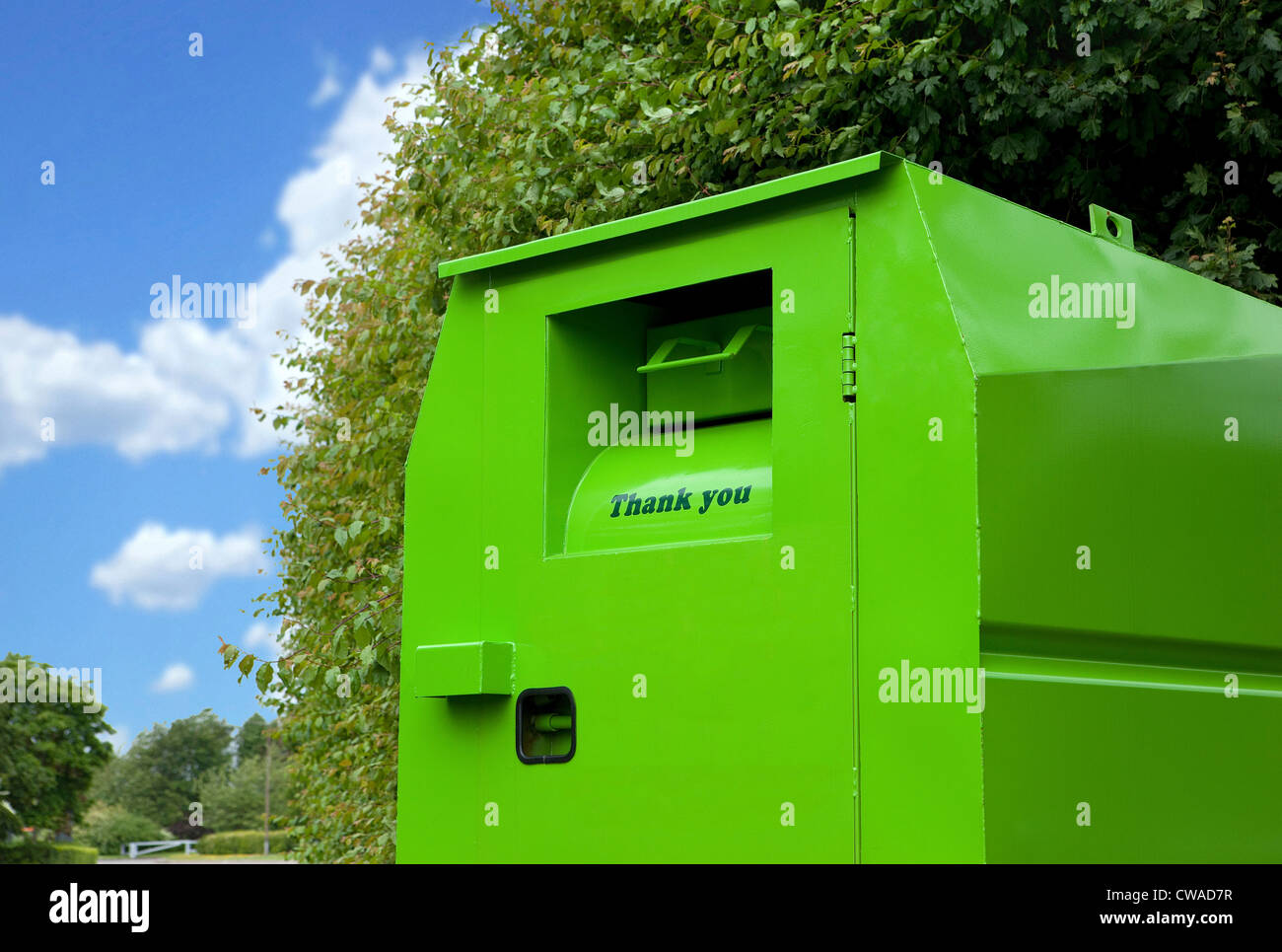 Clothes bank - Stock Image