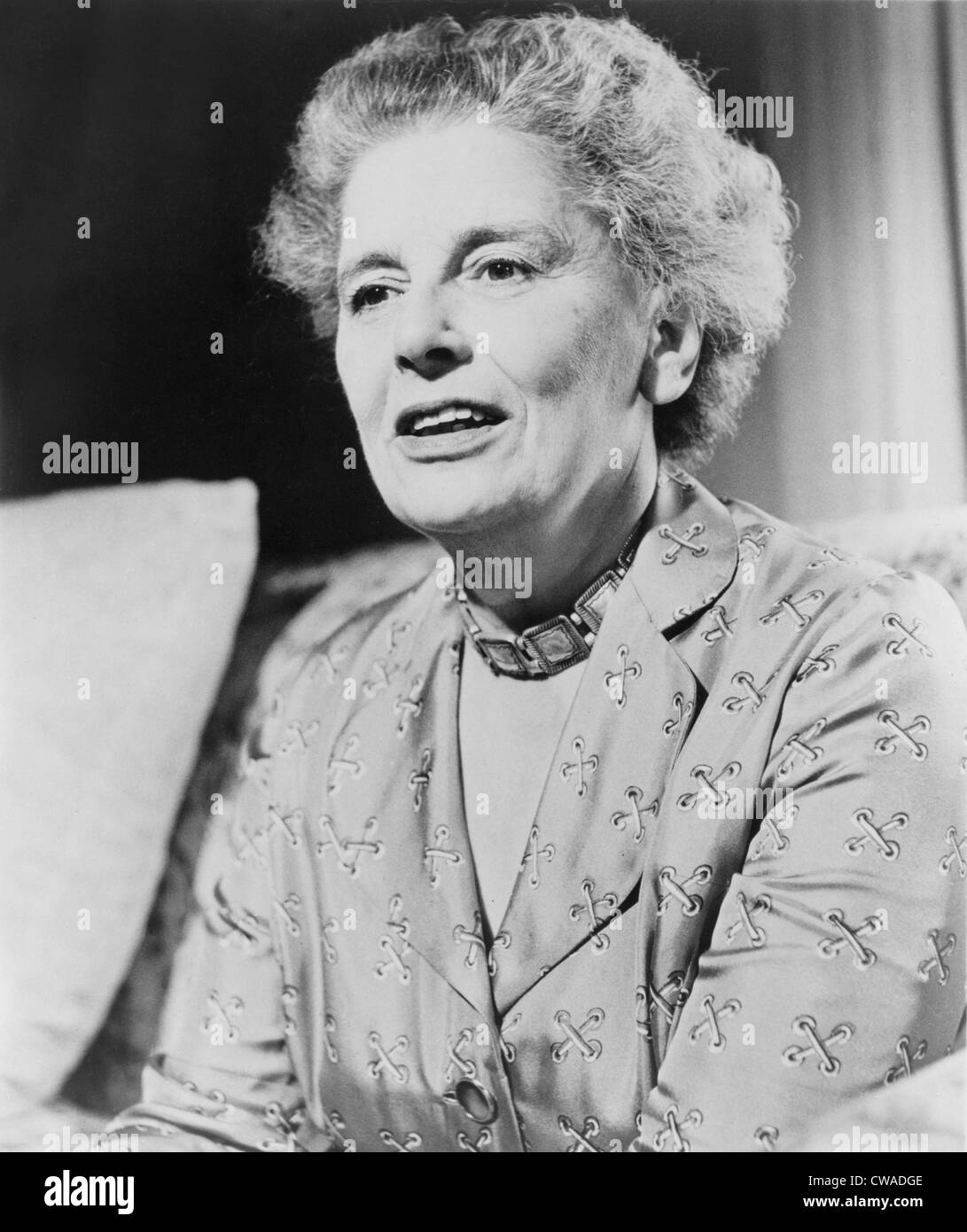 Rebecca West (1892-1983), English journalist and novelist did her best work as a perceptive observer of WWII and - Stock Image