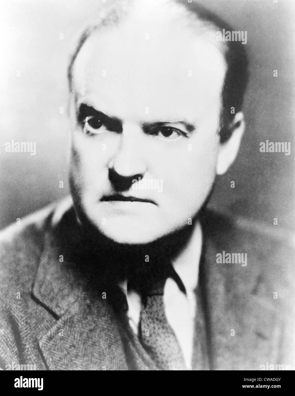 Edmund Wilson (1895-1972) editor and prominent literary critic, 1946. - Stock Image