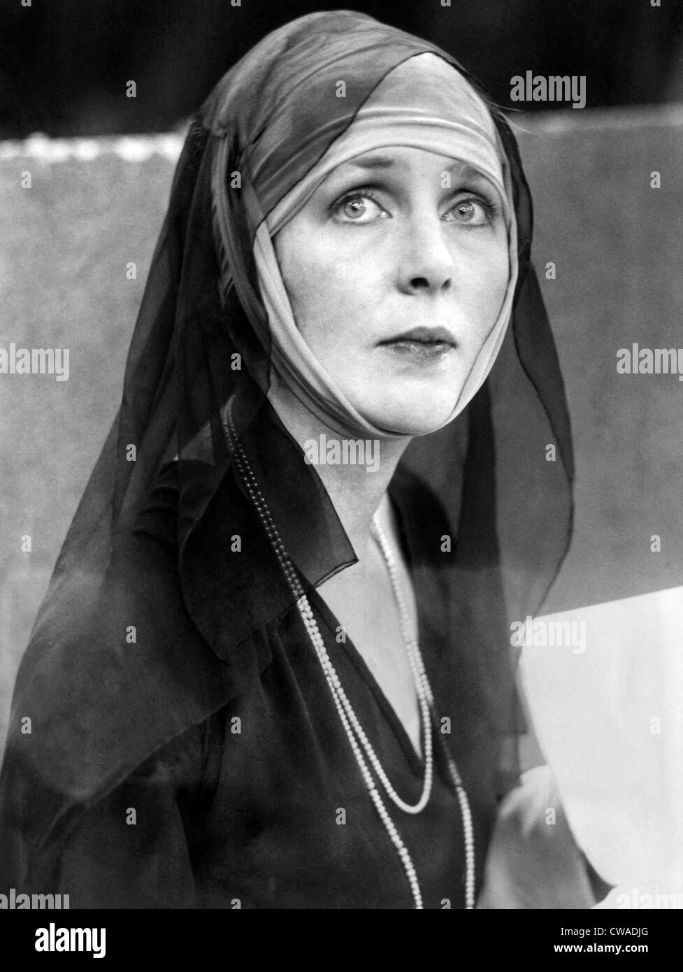 THE MIRACLE, Actress Lady Diana Duff Cooper as the  Madonna, December 4, 1923. Courtesy CSU Archives/Everett Collection. - Stock Image