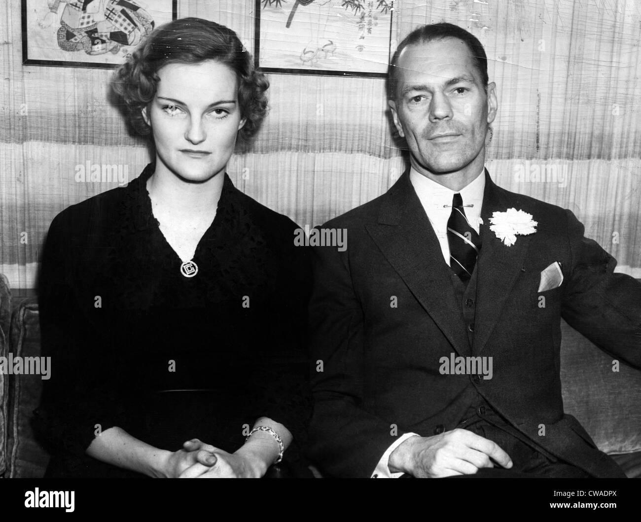 H H James: Doris Duke And Husband James H.R. Cromwell, February, 1935