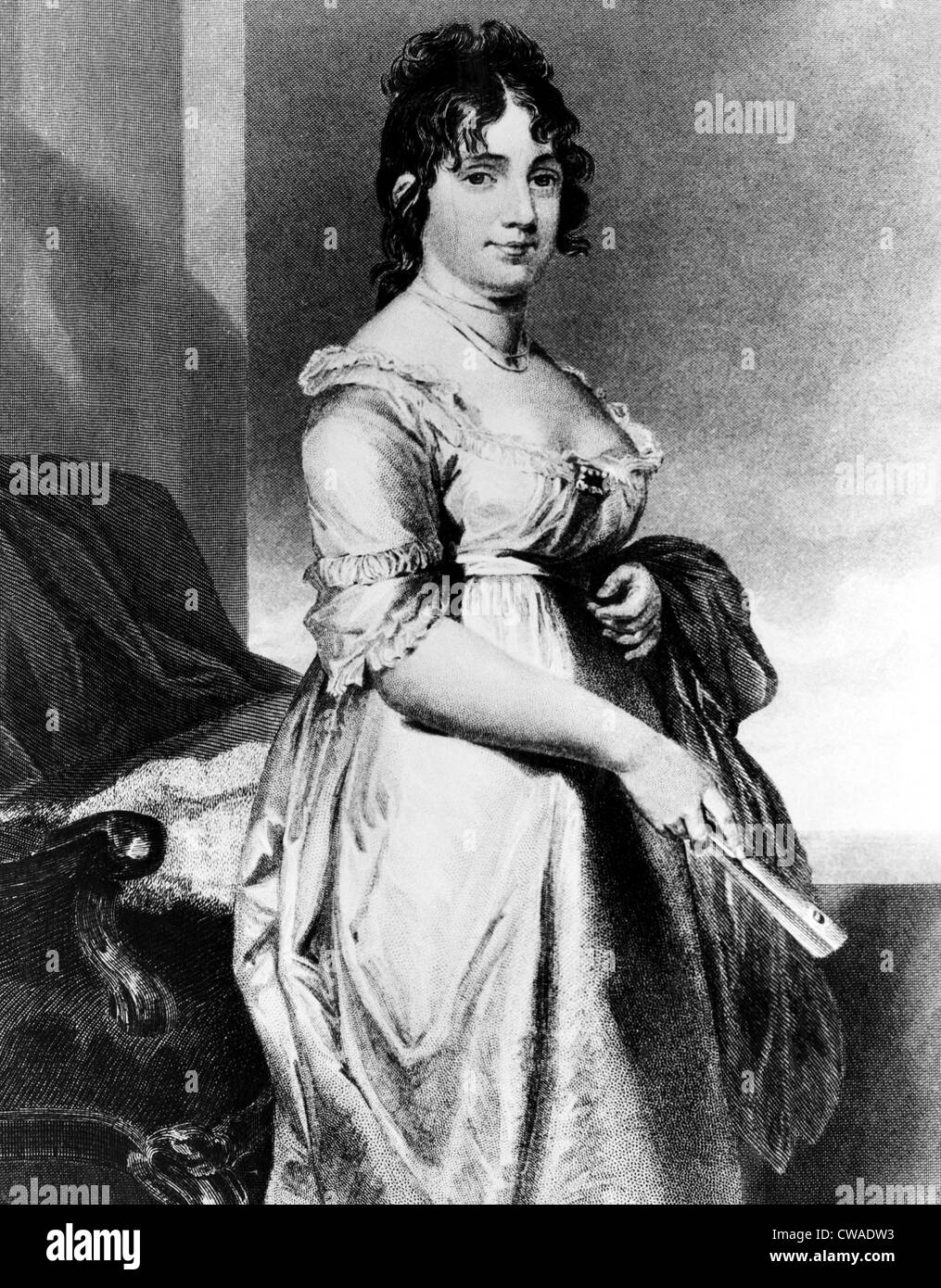 Dolley Madison (1768-1849), First Lady 1809-1817, c. 1818.. Courtesy: CSU Archives / Everett Collection - Stock Image