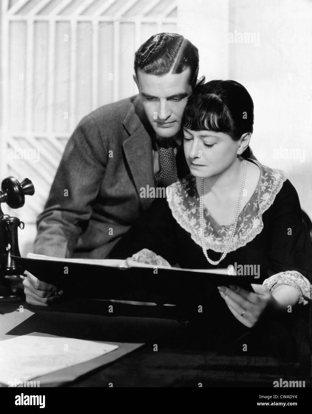 Alan Campbell and his wife Dorothy Parker in Hollywood, California, c. 1936.. Courtesy: CSU Archives / Everett Collection - Stock Image