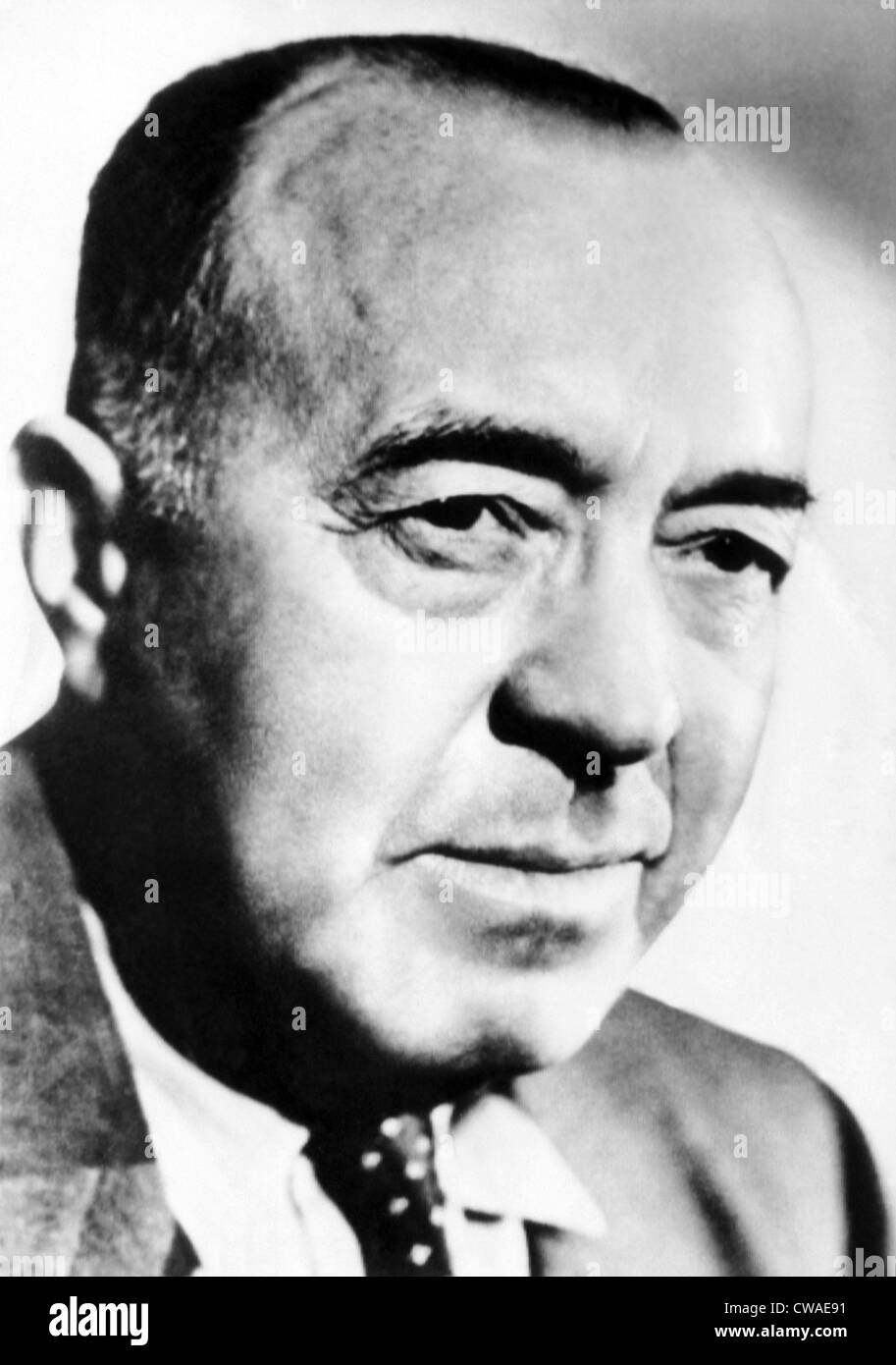 Edgar Rice Burroughs, 1950. Courtesy: CSU Archives/Everett Collection - Stock Image