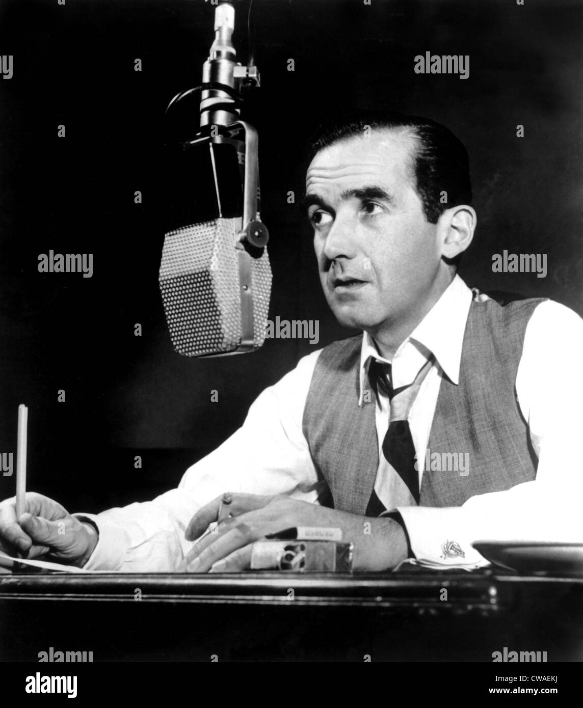 Edward R. Murrow, (no date). Courtesy: CSU Archives / Everett Collection - Stock Image