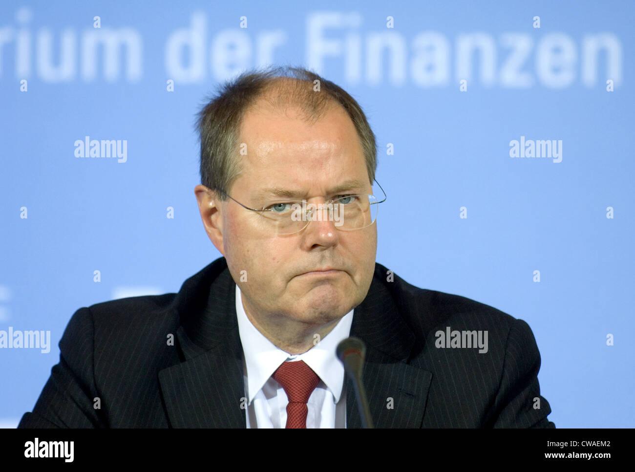 Finance Minister Peer Steinbrueck (SPD) - Stock Image