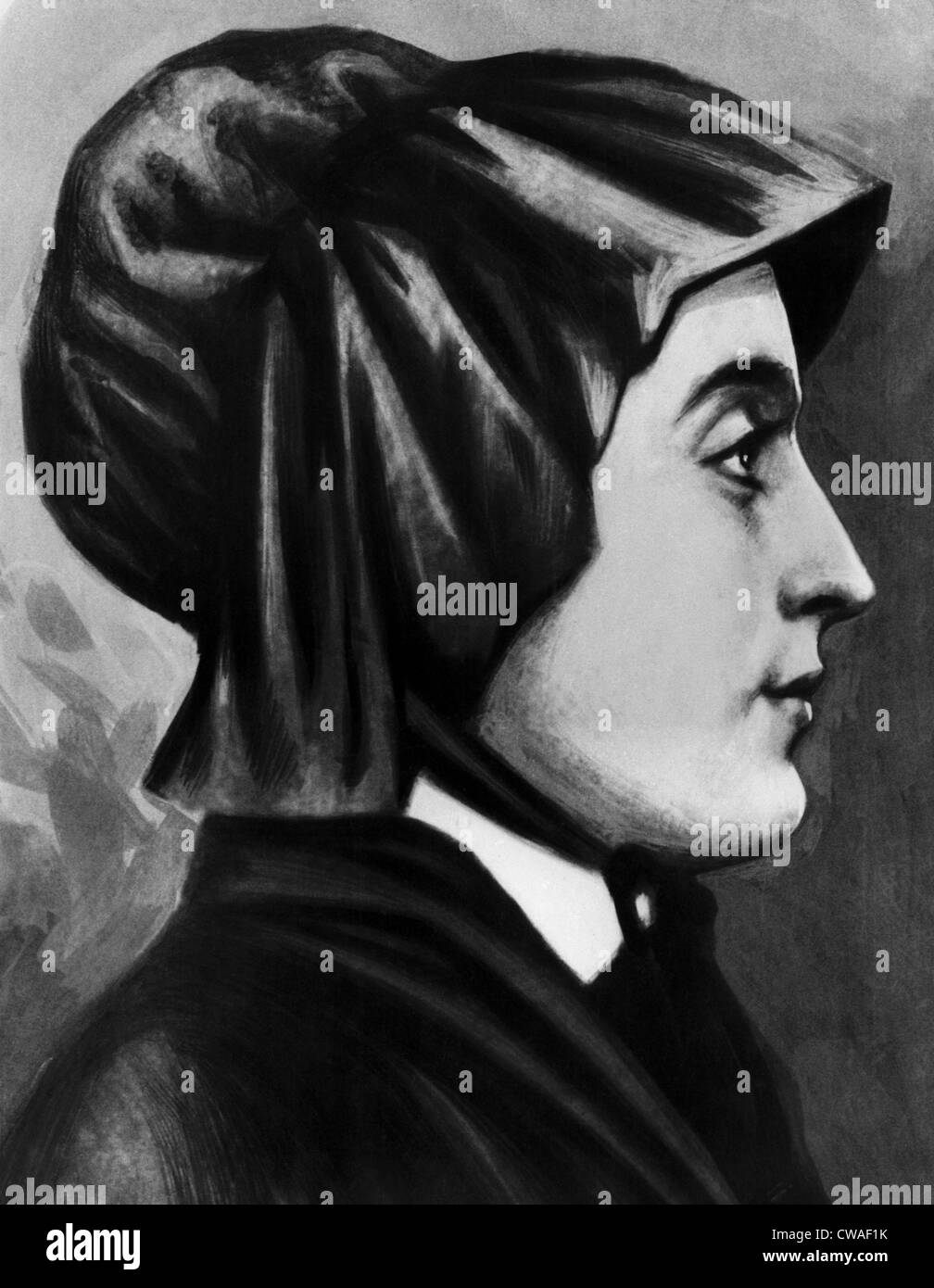 Elizabeth Ann Seton (1774-1821), the first native born United States citizen to be canonized, circa 1810s. Courtesy: - Stock Image