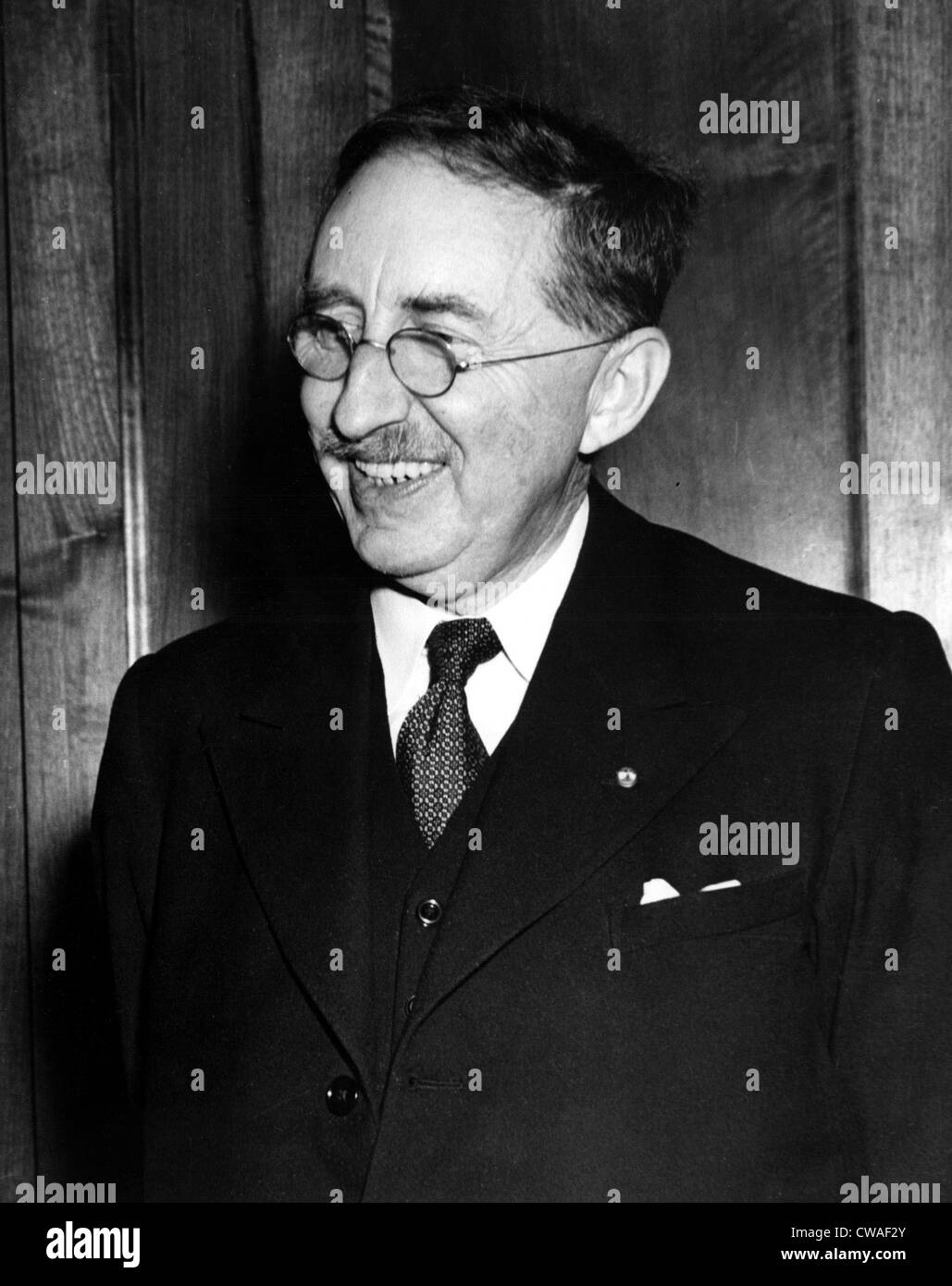 E.M. Forster (Edward Morgan Forster), 1949. Courtesy: CSU Archives / Everett Collection - Stock Image