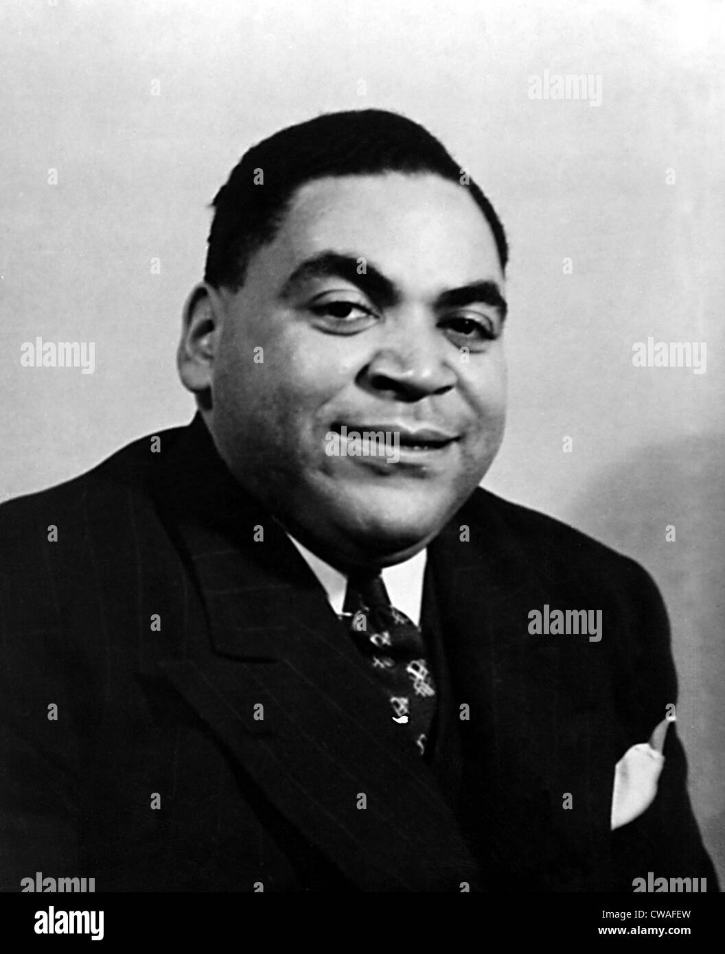 Fats Waller, (real name Thomas), ca. 1930s. Courtesy: CSU Archives / Everett Collection - Stock Image