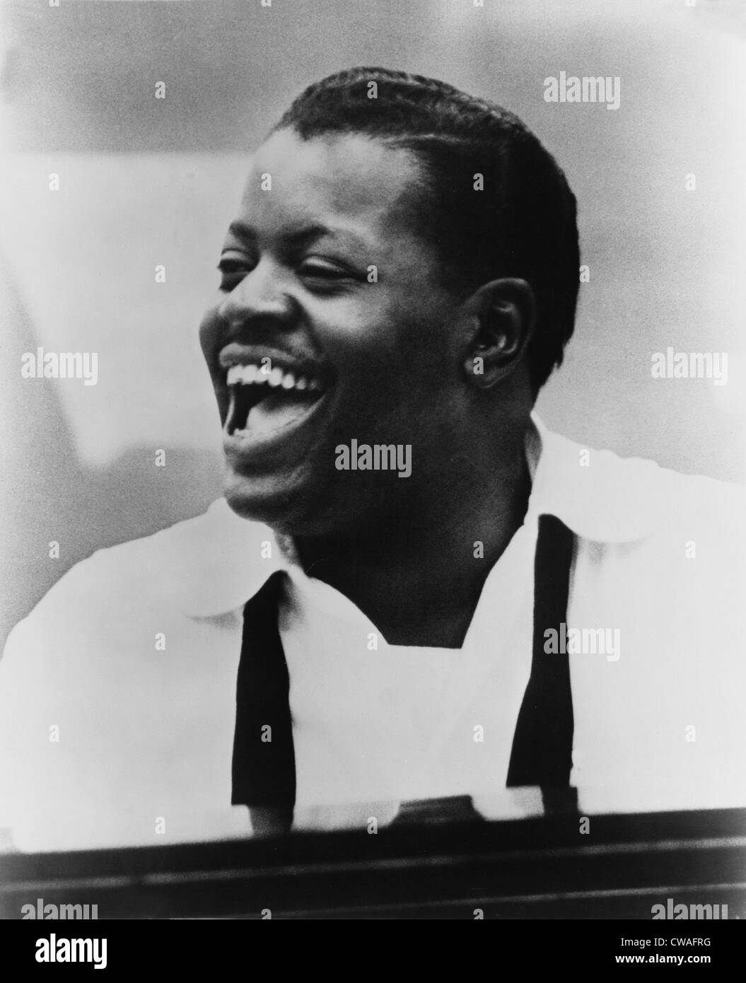 Oscar Peterson (1925-2007) at piano in 1963. - Stock Image