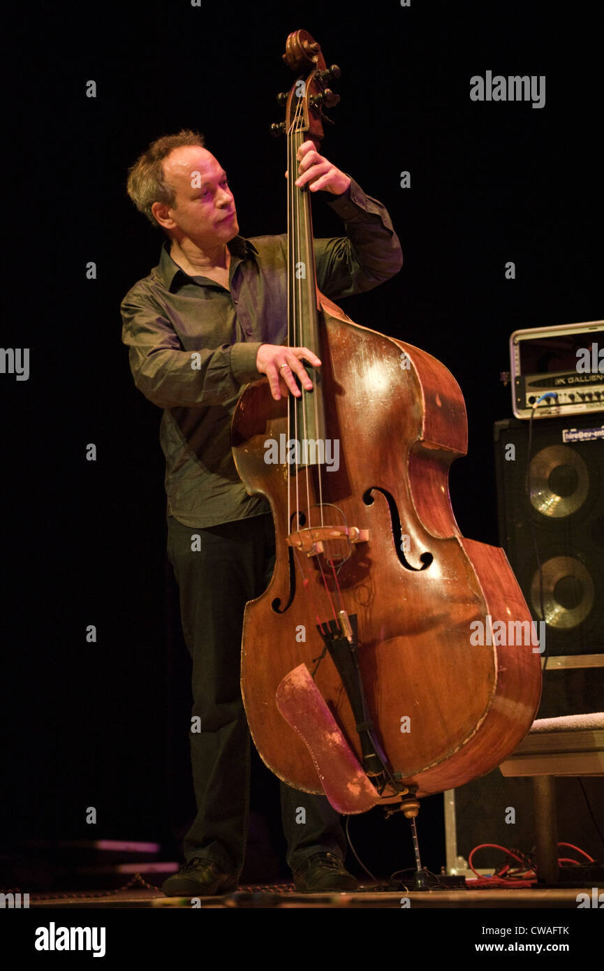 Double bass player Alec Dankworth performing at Brecon Jazz Festival 2012 37bd0afa7c07