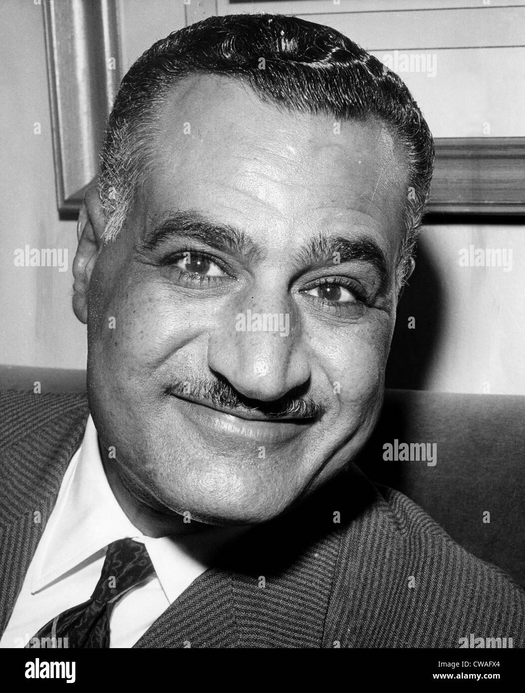 President of the United Arab Republic Gamal Abdel Nasser (1918-1970), circa 1966. Courtesy: CSU Archives/Everett - Stock Image