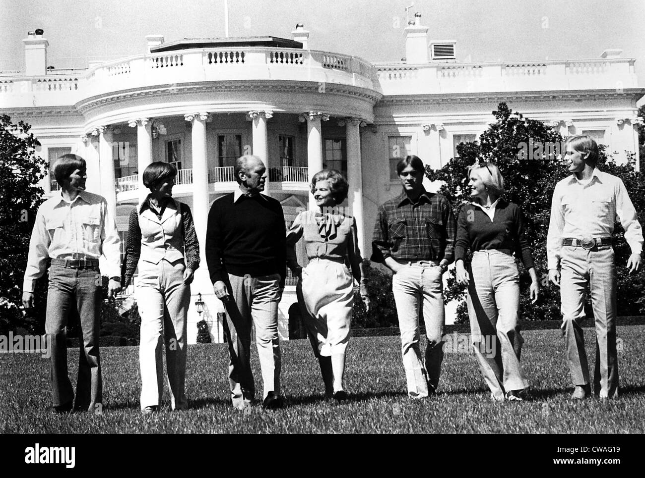 President Gerald Ford Betty Ford And Family On The South
