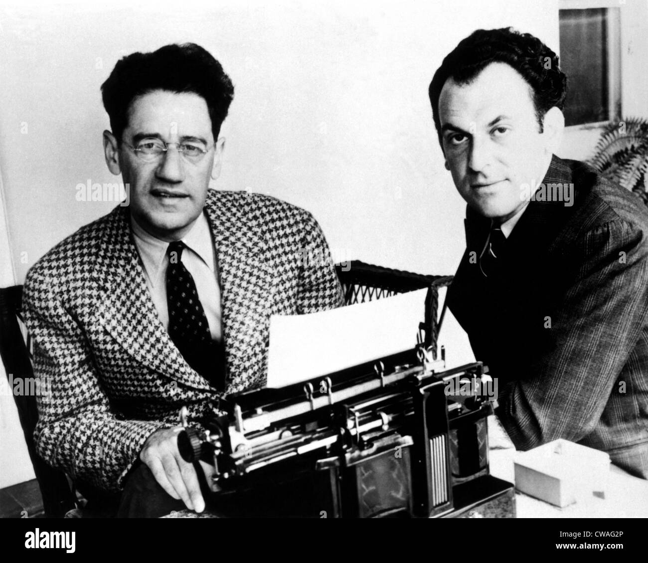 George S. Kaufman and Moss Hart, circa 1930s. Courtesy: CSU Archives / Everett Collection - Stock Image