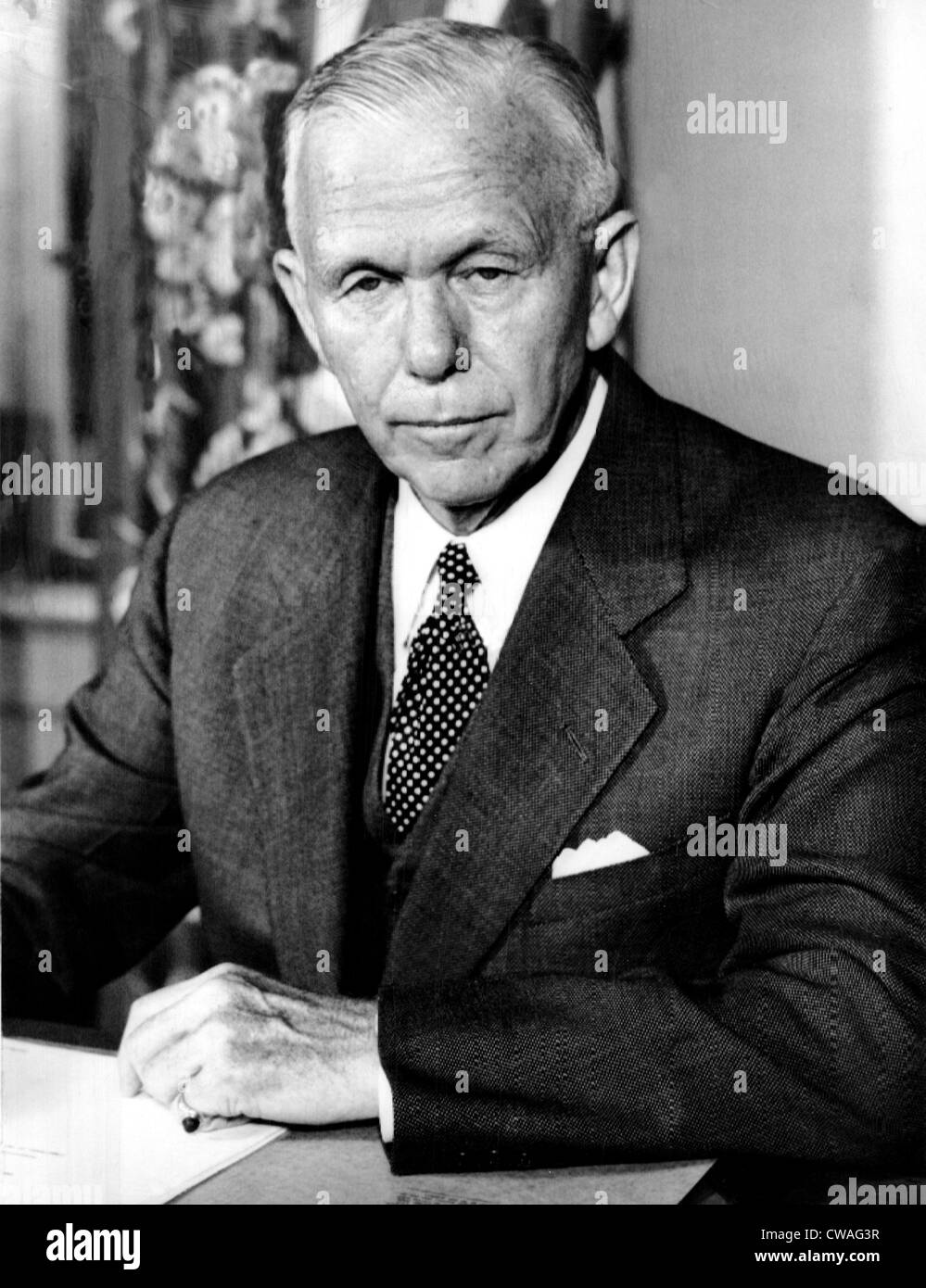 General George C. Marshall, 1950  © CSU Archives/courtesty Everett Collection - Stock Image