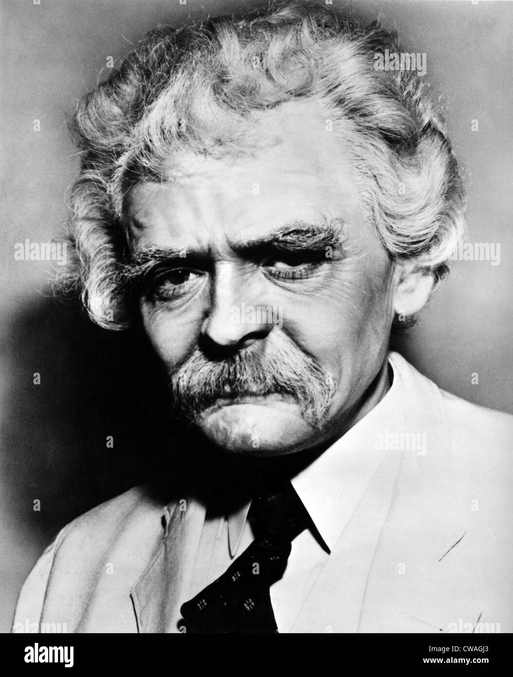 Hal Holbrook as Mark Twain in An Evening With Mark Twain, 1960. Courtesy: CSU Archives / Everett Collection - Stock Image