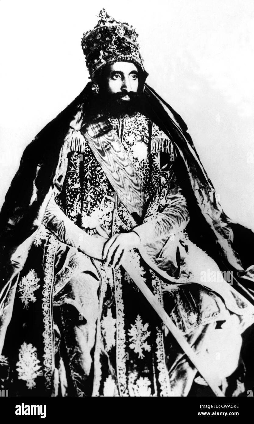 Emperor Haile Selaissie, circa 1930. Courtesy: CSU Archives / Everett Collection - Stock Image