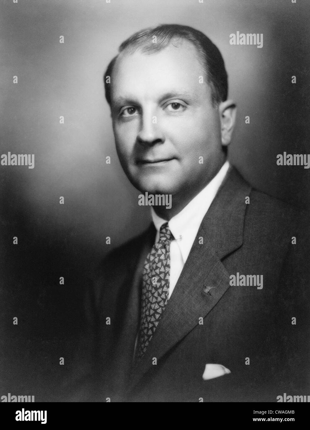 Juan T. Trippe, pioneer of commercial aviation and founder of Pan-American Airways, in 1927. - Stock Image